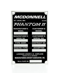 McDonnell F-4 Phantom II Data Plate DPL-0106