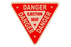 Ejection Seat Warning Decal DEC-0130