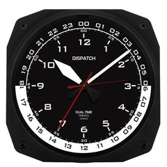 "10"" Dispatch Pilot's Flight Plan Office Dual Time Clock  TRI-0105"