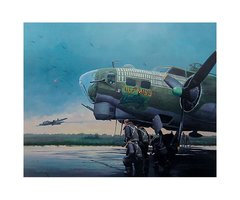 """Bob Parks Print, B-17 Flying Fortress """"The Last Mission"""""""