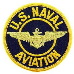 """USN Aviation Embroidered Patch, 3""""  PAT-0119"""