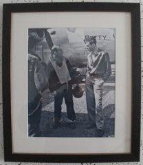 "Framed 8"" X 10"" B&W Glossy Photo of Jimmy Stewart in WWII  PHO-0112"