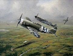 """Domenic DeNardo Print, P-47 Thunderbolt """"Steadfast Against All Odds"""""""