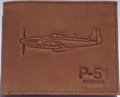 P-51 Brown Leather Wallet  BOE-0131