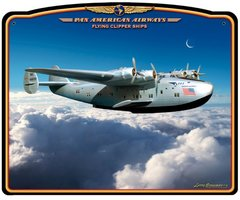 Pan Am Flying Clipper Metal Sign  SIG-0180