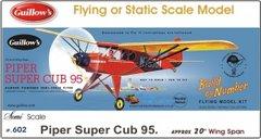 Guillow's Piper Super Cub 95 Balsa Wood Model Airplane Kit GUI-602