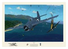 "David Gray Print, F4F Wildcat ""Wildcat Fury""  GRY-14"