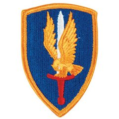 U.S. Army 1st Aviation Brigade (Vietnam) Full Color Embroidered Shoulder Patch  PAT-0102