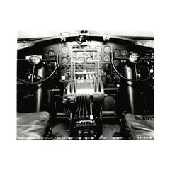 Boeing B-17 Flying Fortress Cockpit Photo- Matted BOE-0113