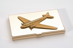 Douglas DC-3/C-47 Brass Business Card Holder  OFF-0104