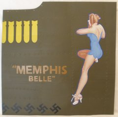 """Reproduction Nose Art Panel, B-17 Flying Fortress """"Memphis Belle""""  NAP-0120"""