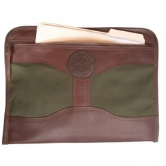 Duluth Pack Leather Trimmed Olive Drab Canvas Document Brief  DUL-0104