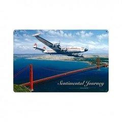 """Sentimental Journey"" TWA Lockheed Constellation Metal Sign  SIG-0152"