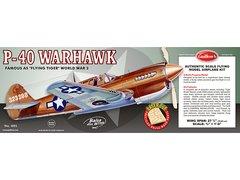 Guillow's Curtiss P-40 Warhawk Balsa Wood Model Airplane Kit  GUI-405LC