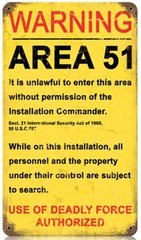 """Area 51"" Metal Sign SIG-0109"