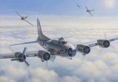 """Domenic DeNardo Print, B-17 Flying Fortress """"Assault on Damn Yankee"""""""