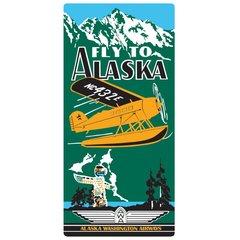 """Fly to Alaska"" Embossed Metal Sign  AR-2040011"