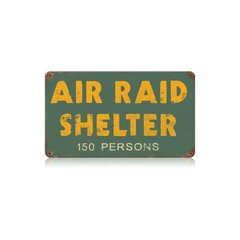 """Air Raid Shelter"" Metal Sign SIG-0133"