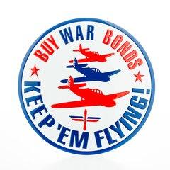"""Keep 'em Flying"" Home Front WWII Embossed Metal Sign  SIG-0126"