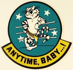 "Grumman F-14 Tomcat Decal, ""Anytime, Baby...!""  DEC-0126"