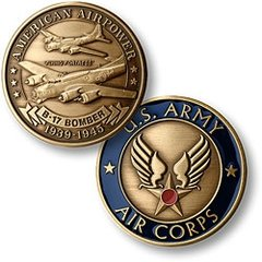 Boeing B-17 Flying Fortress, U. S. Army Air Corps Challenge Coin  NTM-16021