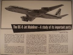 United Airlines, DC-8 Educational Hand Out  EPH-0105