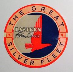 Original Vintage Eastern Air Lines Luggage Decal  DEC-0142