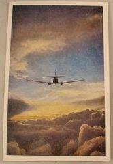 Vintage 1944 United Air Lines Postcard & Luggage Label  GRP-0118