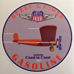 Union Aviation Gasoline Trimotor Peel & Stick Vinyl Decal  DEC-0155