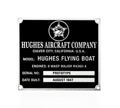 Hughes H-4 Hercules (Spruce Goose) Flying Boat  DPL-0112
