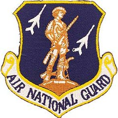 """Air National Guard Embroidered Shoulder Patch, 3""""  PAT-0117"""
