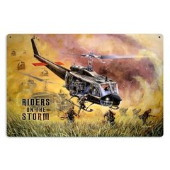 """Bell HU-1 Huey (Iroquois) Viet Nam """"Riders on the Storm"""" Metal Sign SIG-0132"""