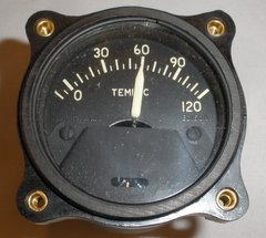 Boeing B-17 Flying Fortress (and other aircraft) WWII Era Temperature Gauge  INS-0104