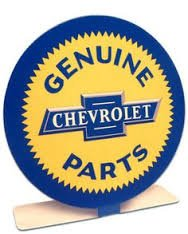 """Genuine Chevrolet Parts"" Desk, Shelf, Table Topper TOP-0103"