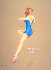 Sam Lyons Print, Memphis Belle Nose Art  LS-4040