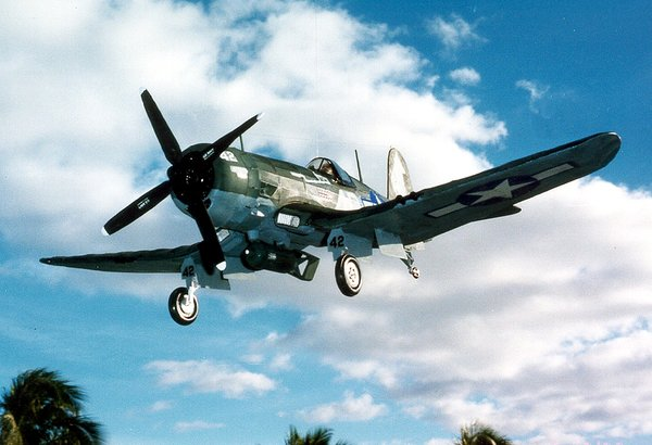 Vought F4u Corsair Balsa Wood Model Airplane Kit Gui 1004