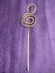 Bookmark, Hammered Copper Clef 2