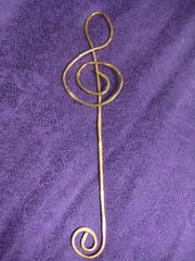 Bookmark, Hammered Copper Clef 1