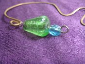 Bookmark, Hammered Copper Blue-Green