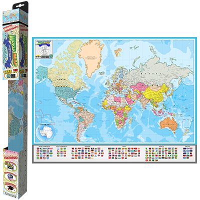 Popar World Map Geography Nations Smart Chart Popar - World map geography