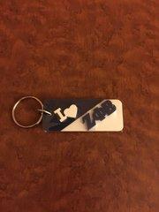 Split heart keychain