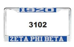 1920 and Zeta Phi Beta License Frame