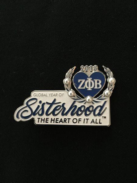 Sisterhood lapel pin