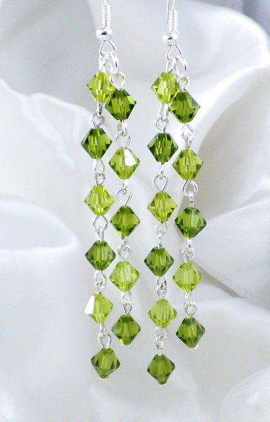 nyc earrings emerald fashion web opaque swarovski vintage jewelry shaped pink cut crystal drop