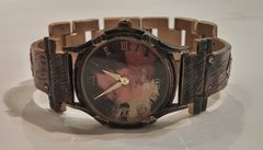 Recycled Metals Watch with Narrow Band