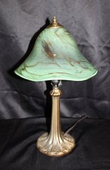 Blown Glass Lamp Green & Brown