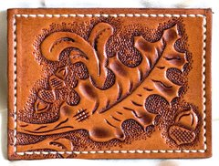 Leather Business Card Holder Leaf