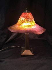 Blown Glass Lamp Pink and Blue