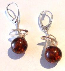 Amber Squiggle Earrings