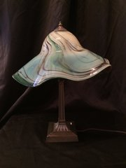 Blown Glass Lamp Green and Red Large